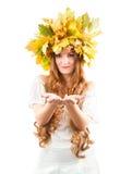 Belle fille d'automne photographie stock