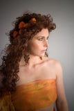 Belle fille d'automne Images libres de droits