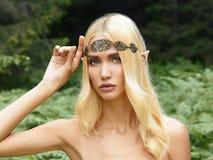 Belle fille d'elfe Photo stock