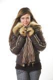 belle fille dans des vêtements de l'hiver images stock
