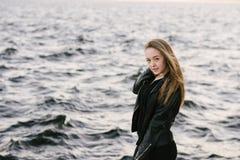 Belle fille dans différentes poses Photo stock