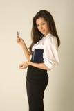 Belle fille dans l'équipement d'affaires Photos stock