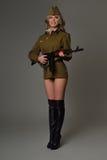 Belle fille dans l'uniforme Photo stock