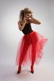 Belle fille dans la jupe rouge Image libre de droits