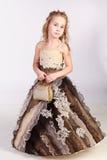Belle fille dans la robe de soirée Photos stock
