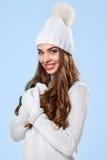Belle fille dans le chandail blanc Photographie stock libre de droits