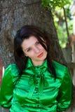 Belle fille dans le chemisier Image libre de droits