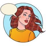 Belle fille dans le style d'art de bruit Illustration de vecteur illustration stock