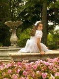 Belle fille dans sa première communion Image libre de droits