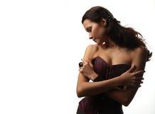 Belle fille dans un corset Images stock