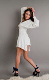 Belle fille dans une robe Image stock