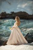 Belle fille dans une robe Photos libres de droits