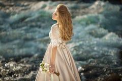 Belle fille dans une robe Photo libre de droits