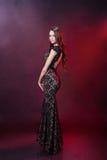 Belle fille dans une robe de soirée Photos stock