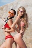 belle fille de bikini de plage Image libre de droits