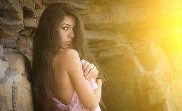Belle fille de brune Image stock