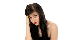 Belle fille de brunette Photographie stock libre de droits