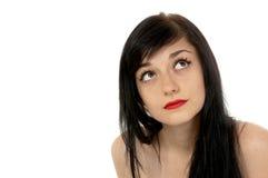 Belle fille de brunette Images libres de droits