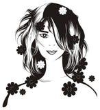 belle fille de fleurs Photographie stock libre de droits