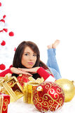 Belle fille de Noël Photo stock