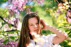 Belle fille de ressort Image libre de droits