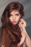 Belle fille de roux Photo stock