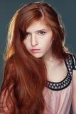 Belle fille de roux Images libres de droits