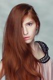 Belle fille de roux Photo libre de droits