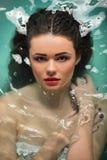 belle fille de salle de bains Image stock