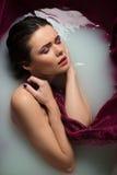 belle fille de salle de bains Photographie stock libre de droits