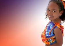 Belle fille de six ans Photo libre de droits