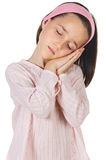 Belle fille de sommeil Photo libre de droits