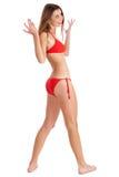 Belle fille de sourire de bikini Photo libre de droits
