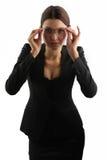 Belle fille et les lunettes Image libre de droits