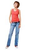 Belle fille gaie dans le vêtement de type occasionnel Photo libre de droits