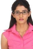 Belle fille indienne avec des glaces image stock