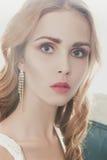 Belle fille modèle Cheveu blond photos stock