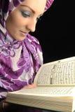 Belle fille musulmane de mode image stock