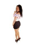 Belle fille noire. Image libre de droits