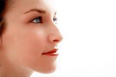 Belle fille - plan rapproché de visage Photographie stock libre de droits