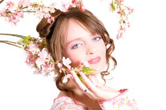 Belle fille romantique photo stock