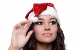 Belle fille sexy de Noël Photographie stock