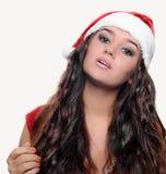 Belle fille sexy de Noël Images libres de droits