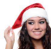 Belle fille sexy de Noël Images stock