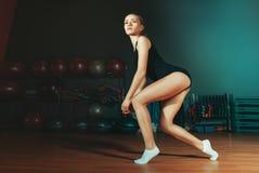 Belle fille sportive Photo stock