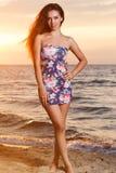 Belle fille sur la plage #6 photographie stock libre de droits
