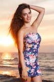 Belle fille sur la plage #6 images libres de droits