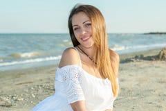Belle fille sur la plage #6 Photos libres de droits