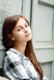 Belle fille triste Photo libre de droits
