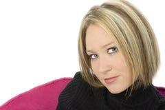 Belle fin de blonde vers le haut photo stock